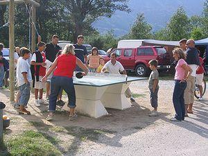 Ping-pong au camping en Cerdagne